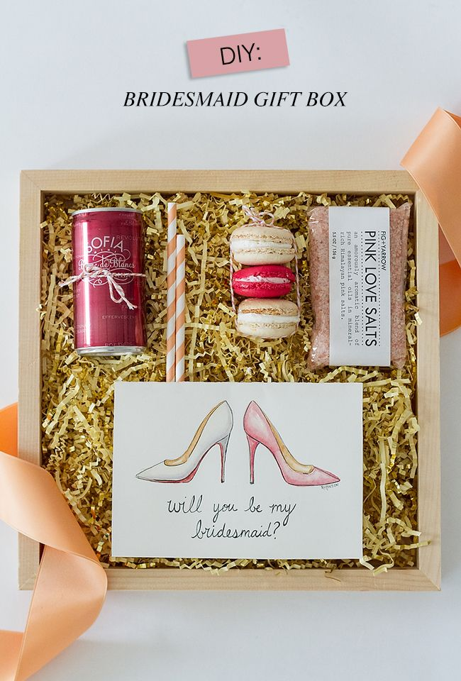 Wedding Gift Ideas For Junior Bridesmaids : BRIDESMAIDS PROPOSAL GIFT BOX IDEAS Pretty Inspirations from the ...
